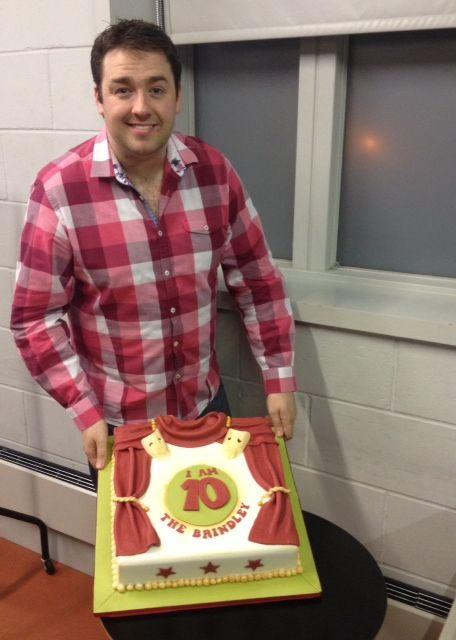 Jason Manford and the cake...