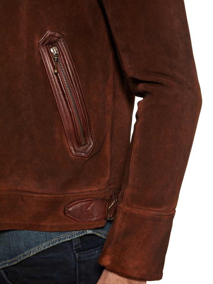 Vinci Suede Western Jacket by Sandro at Gilt
