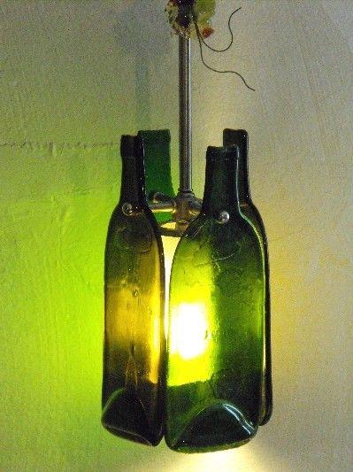 DIY LIGHTING : Recycled Wine Bottle Lamp                                                                                                                                                                                 Más                                                                                                                                                                                 Más