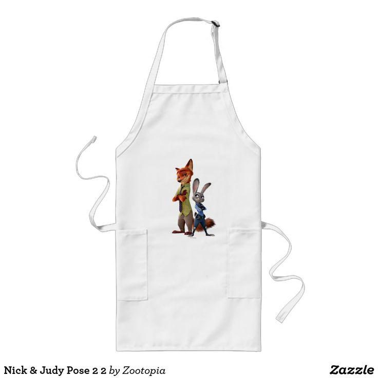 Nick & Judy Pose 2 2. Producto disponible en tienda Zazzle. Product available in Zazzle store. Regalos, Gifts. #delantal #apron