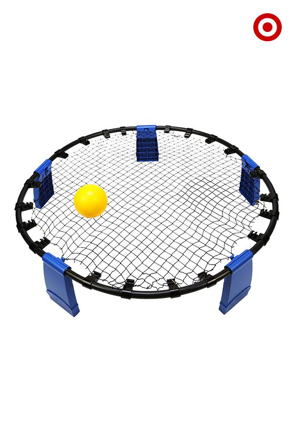 It's part volleyball, part foursquare and 100% fun. In the Battle Bounce game by COOP, players bounce the ball off the net so it ricochets toward an opposing player. Don't let it hit the ground! Set includes frame with net, 2 balls and a carrying bag. This outdoor game is a blast for adults and kids alike. Get yours and let the backyard action begin!