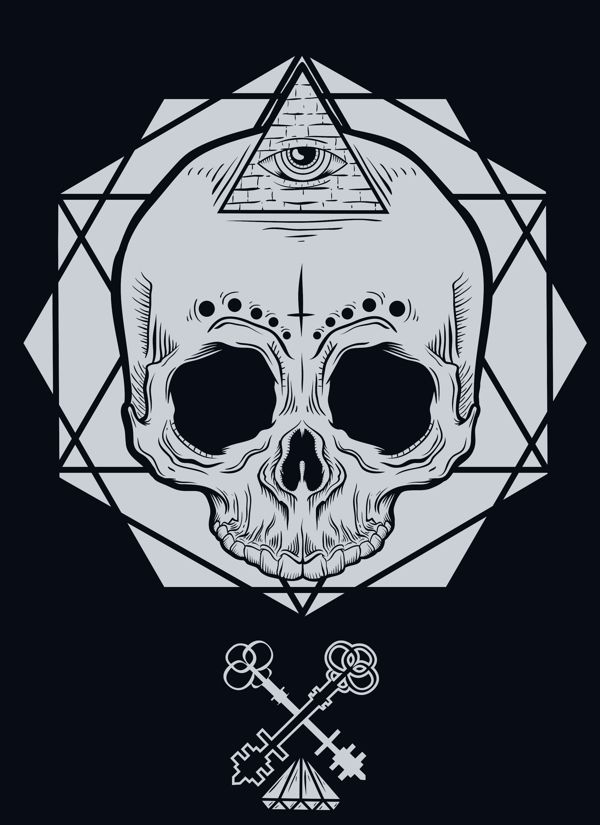 Skull  by HYBRID COMAPANY, via Behance