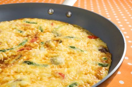 Tuna, spinach and capsicum frittata