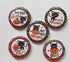 First Halloween Black Cat Flatback Pin Back Buttons 1 for Bows Crafts  - Halloween Flatback Pins