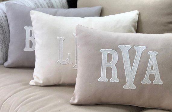 Throw Pillow Monogram Pillow Home Decor Pillow Cover Dorm Pillow Custom Pillow Nursery Decor Anniversar Monogram Pillows Dorm Pillows Throw Pillows Dorm