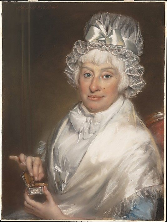 Mrs. Robert Shurlock Sr. (Ann Manwaring) by John Russell  (English, Guildford 1745–1806 Hull). Pastel on paper, laid down on canvas. Date: 1801.