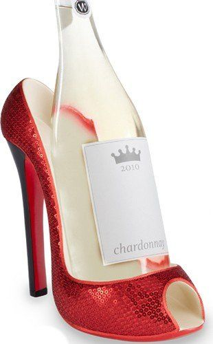 Present a bottle of wine in this sexy high heel and who knows what the night might bring…