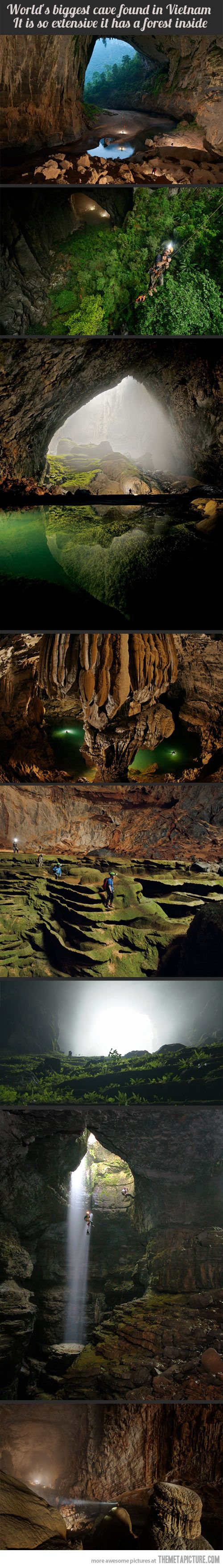 Largest cave in the world. It's so incredible that I don't know which board to pin it to. Regardless is it's beautiful photography, or amazing history, relevant news that I care about or a scientific marvel, the one thing that I know for sure is that it's WICKED COOL!