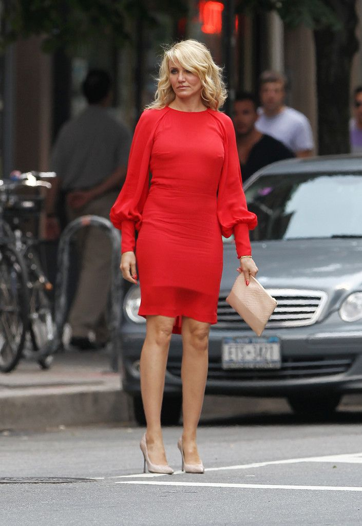 Cameron Diaz - 'The Other Woman' Films in NYC