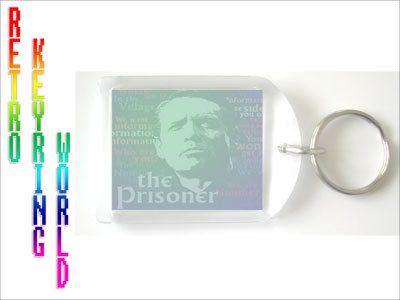 The Prisoner - retro UK TV Keyring free UK P - Retro TV keyring / keychain. ONLY  £1.99 Low cost Worldwide shipping