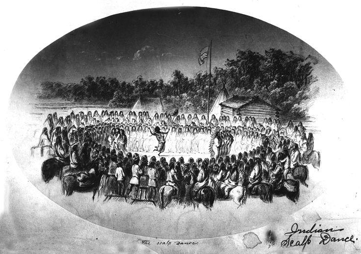 Danza dello Scalpo dei Nez percé a Fort Wallawalla, 1855