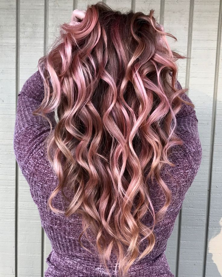 Rose Gold Balayage Color And Cut By Tiffanywoopwoop
