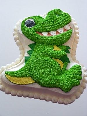 Dinosaur smash cake?
