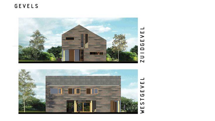 Gevels houten woning