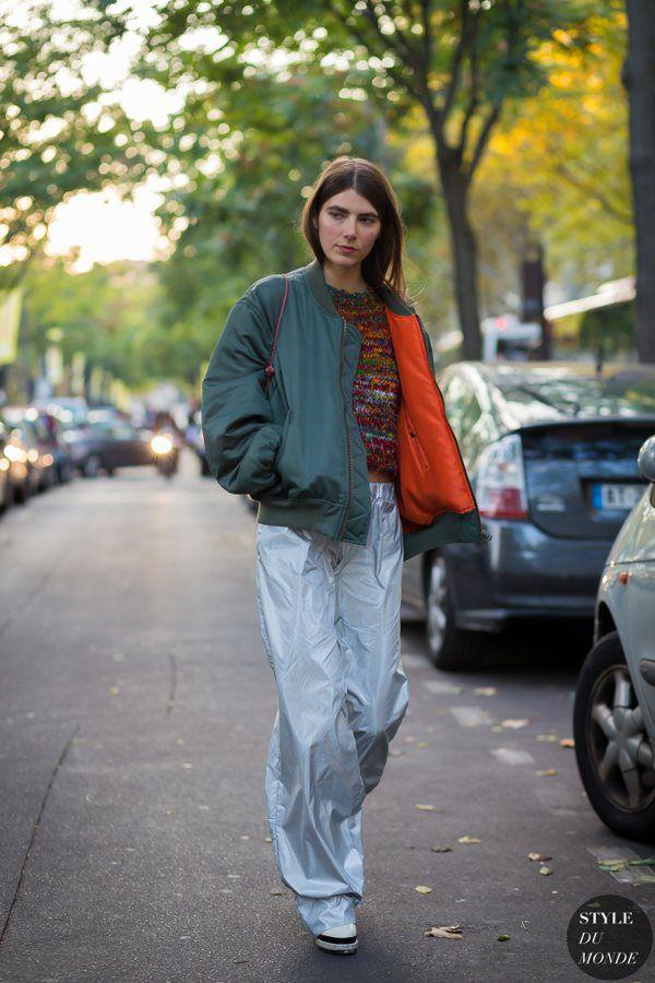 时髦Si典|谷歌热搜第一的飞行员夹克,时装周又抢镜!_街拍_时尚_YOKA时尚网移动版