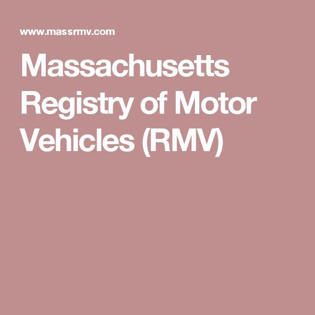 Massachusetts Registry of Motor Vehicles (RMV)