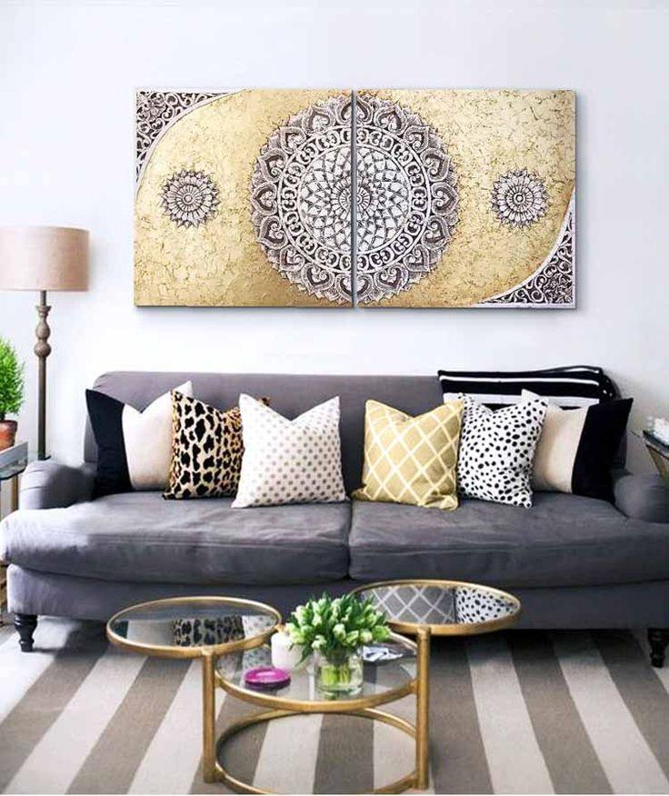 Mejores 19 im genes de cuadros para sofas en pinterest dormitorio mandalas y perfecta - Cuadros para encima del sofa ...