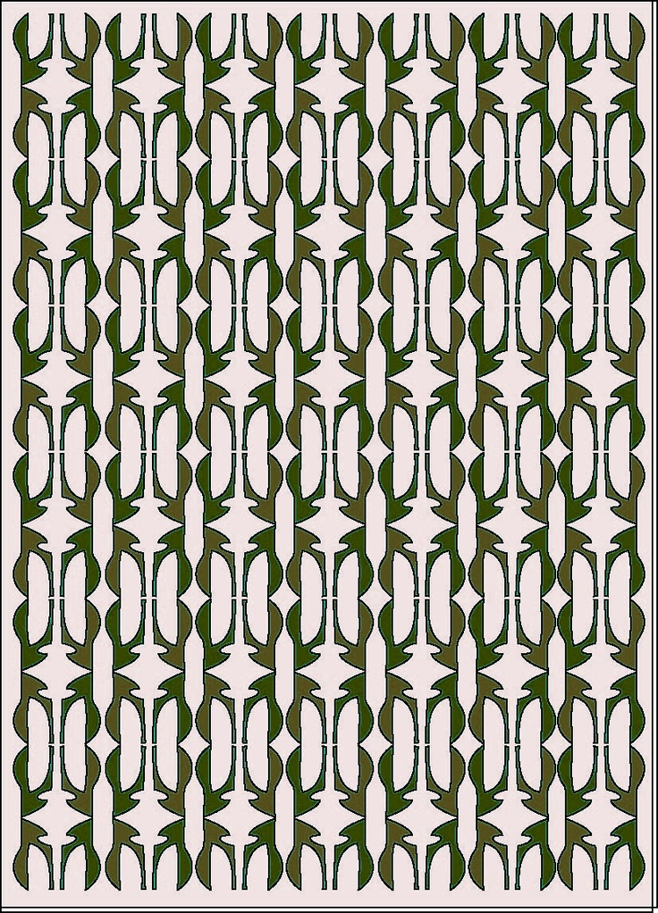 pattern design, grey,green,white collor.