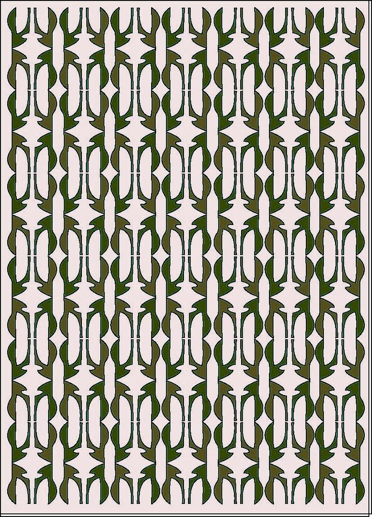 pattern design, grey,green,white collor.
