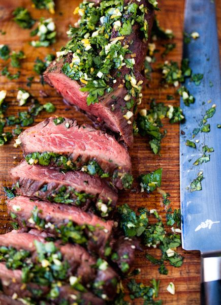 A quick stint on the grill and a rub of brightly flavored gremolata make this steak an easy and flavorful weeknight dinner option