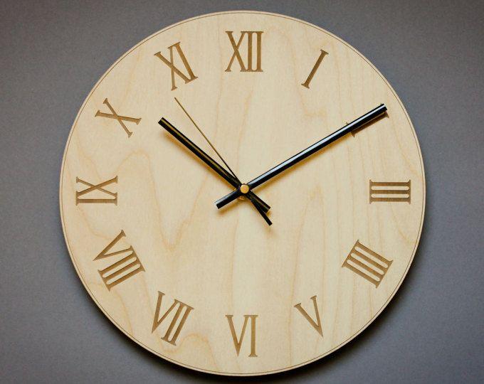 Roman Numeral Clock Modern Wall Clock Office Wall Clocks Wooden Wall Clock Living Room Clock Larg Office Wall Clock Large Clock Numbers Wall Clock Modern