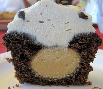 Chocolate peanut butter cupcake recipe - YUM!  Includes a chocolate cake recipe but would be almost as good (and faster!) with a boxed cake mix.  :-)