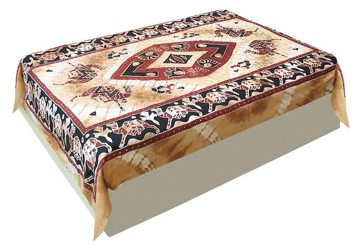 Camel Procession on Light Brown Single Bedspread (Cotton))