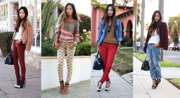 Объёмный верх сочетается с обтягивающими брюками или висящие, слишком большие, джинсы с блейзером с геометрической и жесткой линией плеч. В каждом сочетании есть вещи и по фигуре, и объемные. Есть мягкие линии, например, большой свитер, и жесткие формы, например, сумка с углами. Casual Lux свитеров, футболок и курток сочетается с кожаными изящными туфлями на высоком и тонком каблуке.