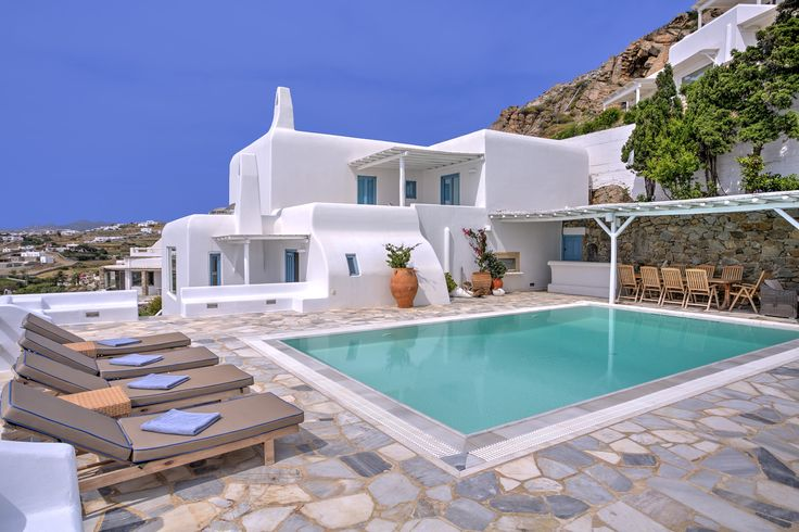 Our four bedroom #presidential villa's pool is waiting for you @Santa Marina Resort & Villas, #Mykonos