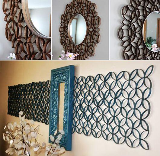 kreative-wandgestaltung-in-blau-mit-deko-aus-papier-und-spiegel