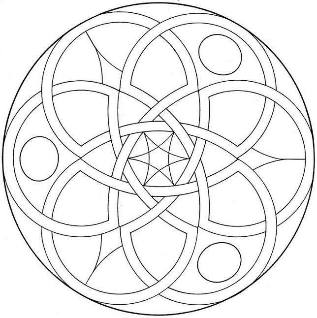 Healing Mandala from Coloring Mandalas by Susanne F. Fincher