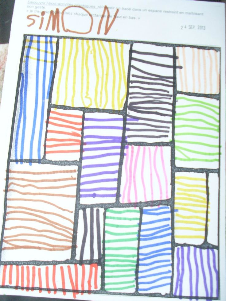 FICHE BILAN GRAPHISME: lignes verticales et - les moyens de la classe d'Angélique