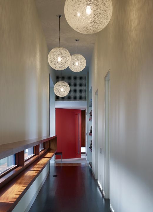 These Oversized Light Fixtures Bring Attention To The Height Of The Space  Without Becoming Overly Crowded. Narrow HallwaysHallway LightingTrack ...