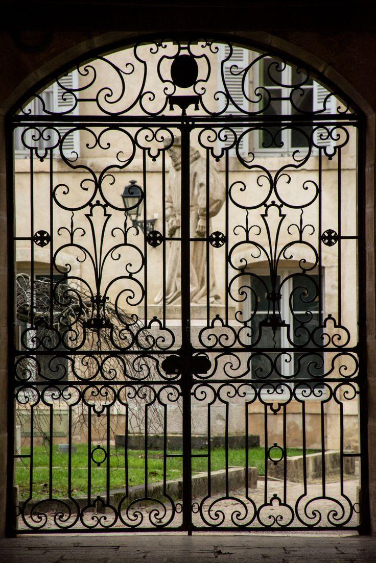 Beautiful gate in Beaune, France