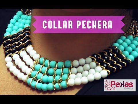 Como hacer un Collar Pechera : Pekas Creaciones