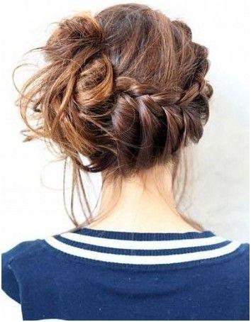 French Braid Bun Ideas: Side Updo Hairstyles