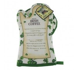 Real Irish Coffee Pot Holder and Oven Glove Set