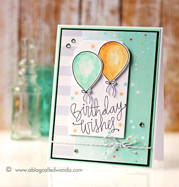 Simon Says Stamp Card Kit. Birthday card by Wanda Guess. #sssfave