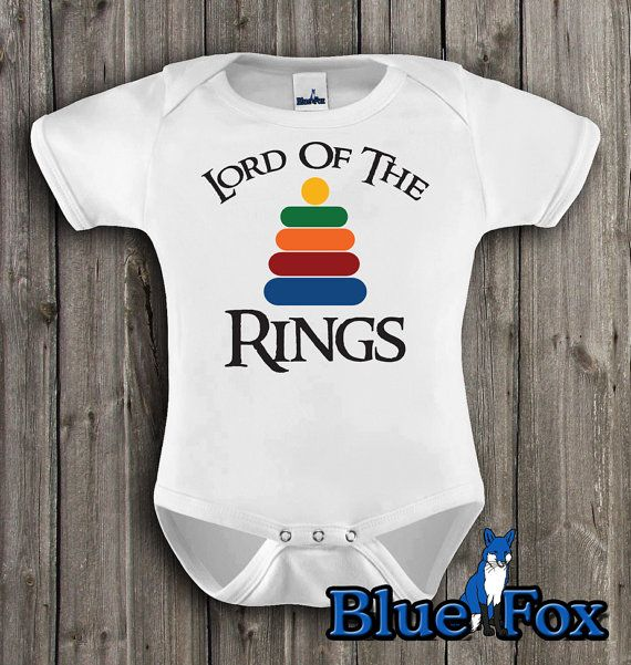 Funny baby clothing, Lord of the Rings, baby one piece, Lotr inspired, geekery approved, by BlueFoxApparel *151