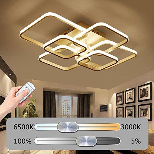 Tlx Lamp Led Dimmable Plafonnier Lampe De Salon Moderne Mode