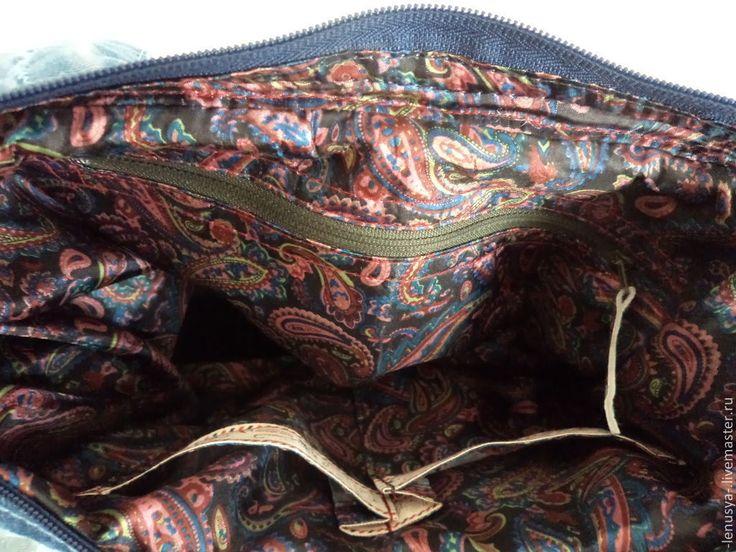 """Купить Большая джинсовая сумка """"ТАТЬЯНА"""" - синий, джинс, джинсовая сумка, лоскутная сумка"""
