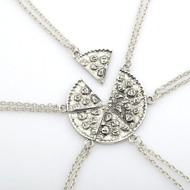 6 unids Pizza Colgante Collares Collar Amistad Mejores Amigos Para Siempre Recuerdo Creativo Memorial Day Regalo de Navidad Para El Amigo
