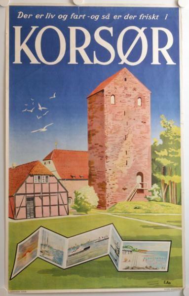 Når færgerne fra Nyborg ankommer til Korsør kan man se resterne af det gamle borganlæg.