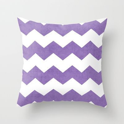 chevron - purple Throw Pillow by her art