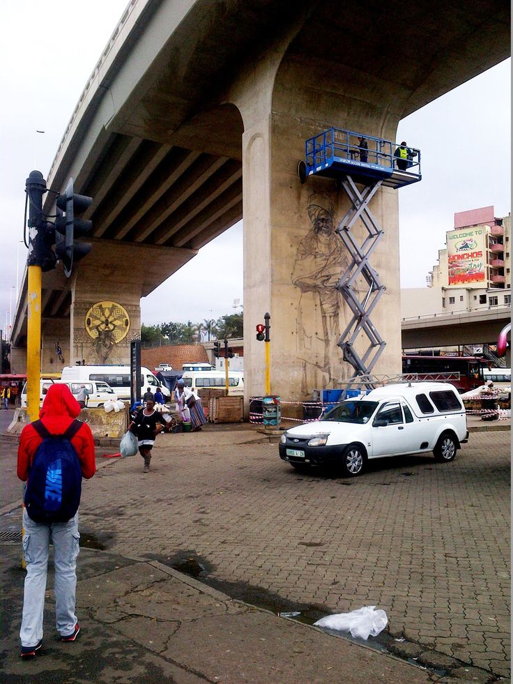 Amazing street art in Durban, the market will never be the same a BIG THANKS! #UIA2014 #warwickjunction