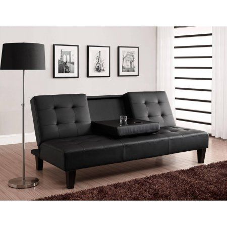 Julia Cupholder Convertible Futon, Multiple Colors - Walmart.com