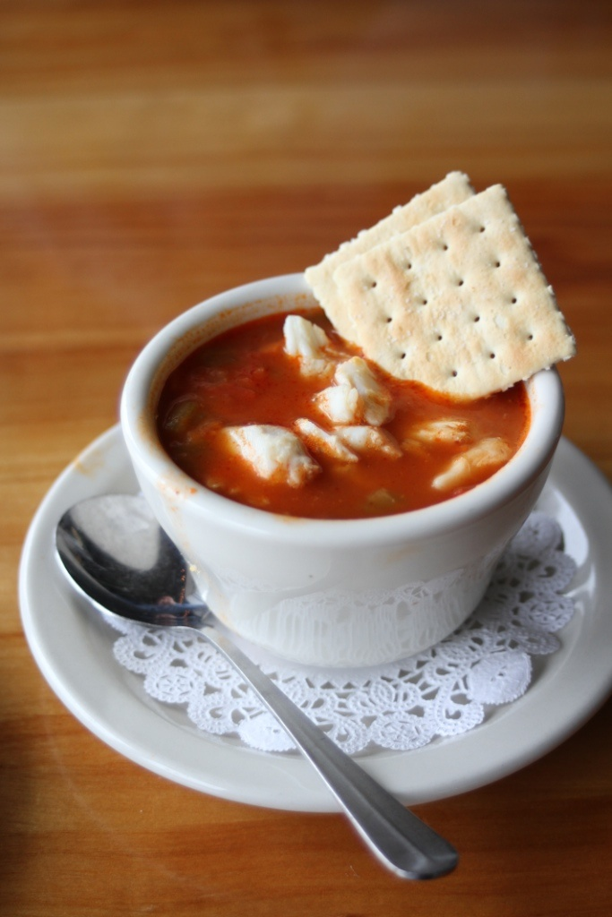 Maryland Crab Soup from Deep Creek Restaurant & Marina in Arnold, MD. They're a past winner!