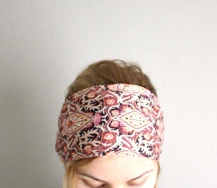 ethnic headband wide bandana head band boho tribal head wrap chic headwrap hair wraps winter fashion for women trendy burgundy by EvergreenGarden on Etsy https://www.etsy.com/listing/207382219/ethnic-headband-wide-bandana-head-band
