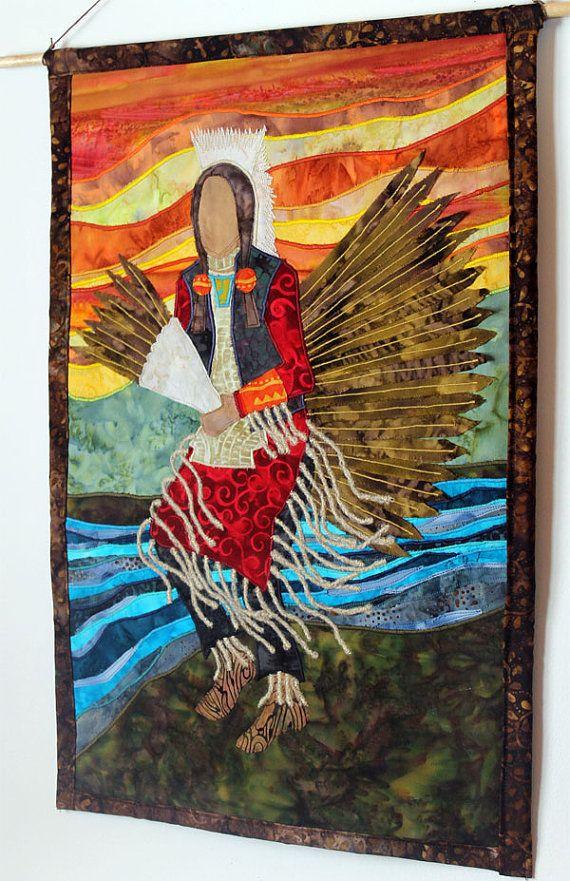 Native American Traditional Dancer Mens Regalia art quilt by JPGstudio2536 (Jami Peterson-Grittner, Ojibwe) on Etsy