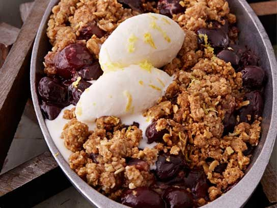 sugar rush cherry crisp